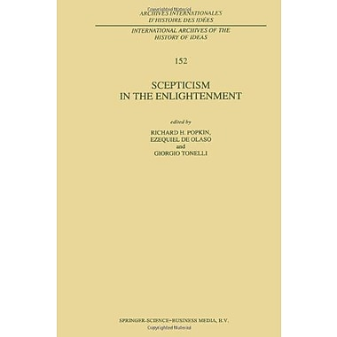 Scepticism In The Enlightenment International Archives Of The History Of Ideas Archives Internationale, New Book (9789048148776)