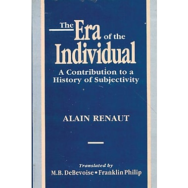 The Era Of The Individual A Contribution To A History Of Subjectivity, New Book (9788120816978)