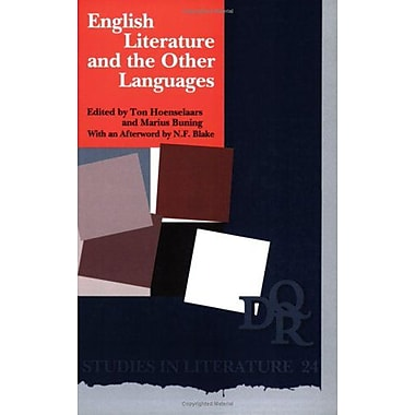 English Literature And The Other Languagesdqr Studies In Literature 24, New Book (9789042007840)