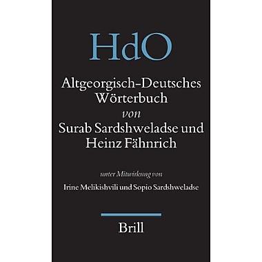 Altgeorgisch-Deutsches Worterbuch Handbuch Der Orientalistik German And Georgian Edition, New Book (9789004145498)