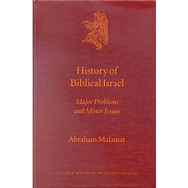 History Of Biblical Israel Major Problems And Minor Issues Culture And History Of The Ancient Near Eas, New Book (9789004120099)
