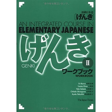 Genki Ii An Integrated Course In Elementary Japanese - Workbook English And Japanese Edition, New Book (9784789010023)