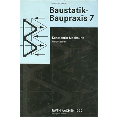 Baustatik Baupraxis 7, New Book (9789058090447)