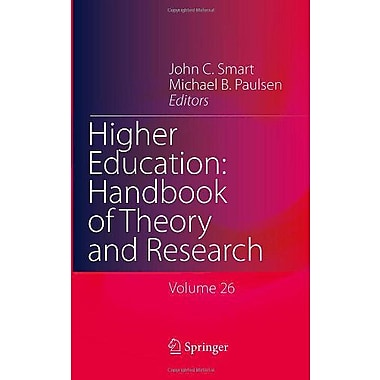 Higher Education Handbook Of Theory And Research Volume 26, New Book (9789400707016)