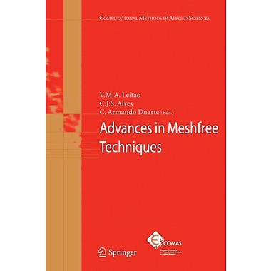 Advances In Meshfree Techniques Computational Methods In Applied Sciences, New Book (9789048175338)