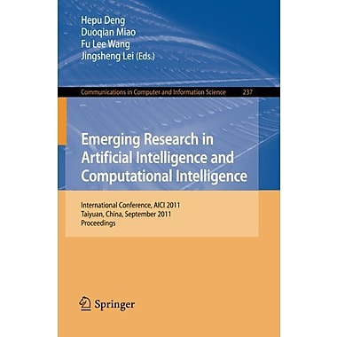 Emerging Research In Artificial Intelligence And Computationai Intelligence, Used Book (9783642242816)