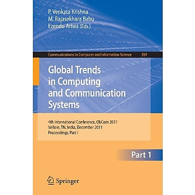 Global Trends In Computing And Communication Systems 4Th International Conference, New Book (9783642292187)