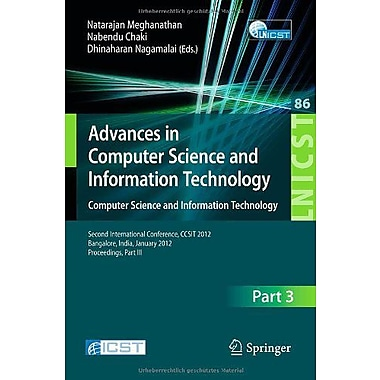 Advances In Computer Science And Information Technology Computer Science, New Book (9783642273162)