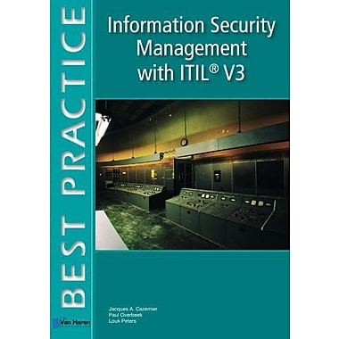 Information Security Management With Itil V3 Best Practice Series, New Book (9789087535520)