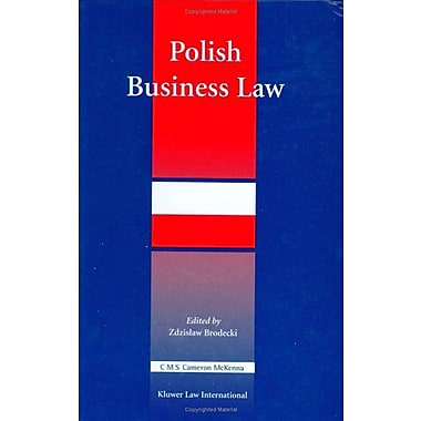 Polish Business Law, New Book (9789041119926)