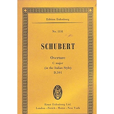 Overture C Major D591 In The Italian Style Study Score, New Book (9783795767624)