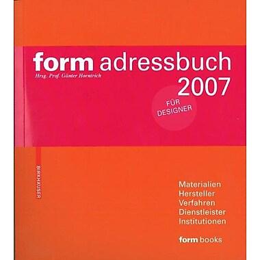 Form Adressbuch 2007 German Edition, New Book (9783936560404)