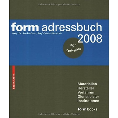 Form Adressbuch 2008 German Edition, New Book (9783764384791)