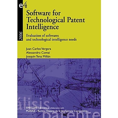 Software For Technological Patent Intelligence Evaluation Of Software And Technological Intelligence N, New Book (9788493517809)