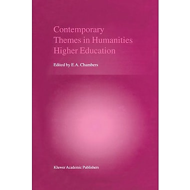 Contemporary Themes In Humanities Higher Education, New Book (9789048156085)