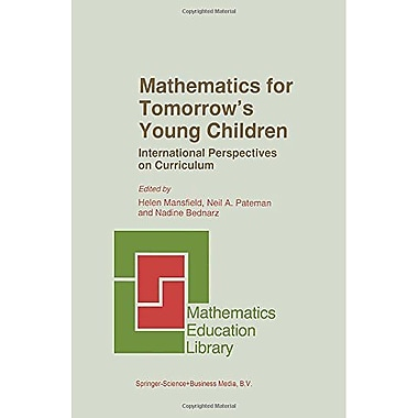 Mathematics For Tomorrows Young Children Mathematics Education Library, New Book (9789048146901)
