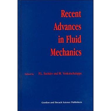 Recent Advances In Fluid Mechanics, New Book (9789056991531)