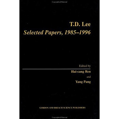 Td Lee Selected Papers 1985-1996, New Book (9789056996093)