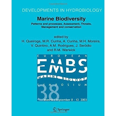 Marine Biodiversity Patterns And Processes Assessment Threats Management And Conservation Developments, New Book (9789048171095)