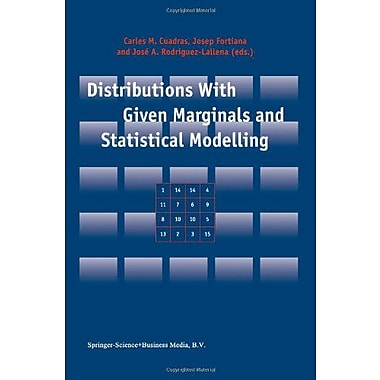 Distributions With Given Marginals And Statistical Modelling, New Book (9789048161362)