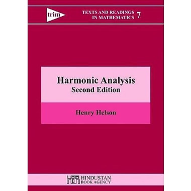 Harmonic Analysis Texts And Readings In Mathematics, New Book (9789380250052)