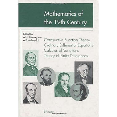 Mathematics Of The 19Th Century Function Theory According To Chebyshev Ordinary Differential Equations, New Book (9783764358457)