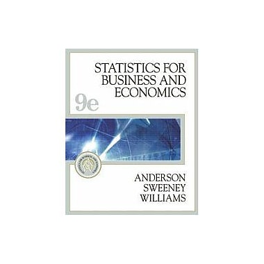 Statistics For Business And Economics, New Book (9788131502884)