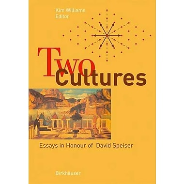 Two Cultures Essays In Honour Of David Speiser, New Book (9783764371869)