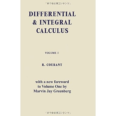 Differential And Integral Calculus Vol One, New Book (9784871878388)