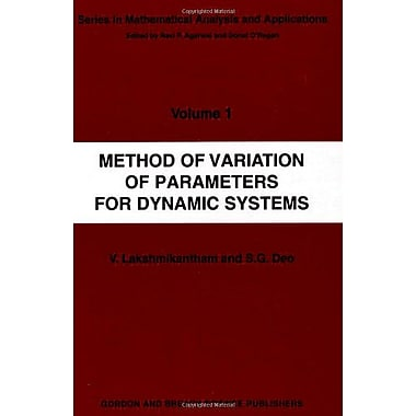 Method Of Variation Of Parameters For Dynamic Systems Mathematical Analysis And Applications, New Book (9789056991609)