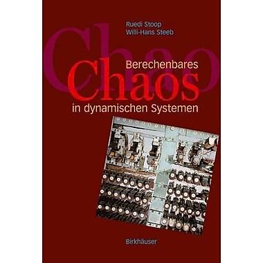 Berechenbares Chaos In Dynamischen Systemen German Edition, New Book (9783764375508)