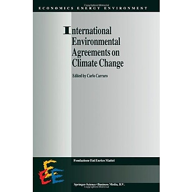 International Environmental Agreements On Climate Change Economics Energy And Environment, New Book (9789048151554)