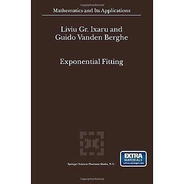 Exponential Fitting Mathematics And Its Applications, New Book (9789048165902)