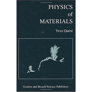 Physics Of Materials, New Book (9789056991180)