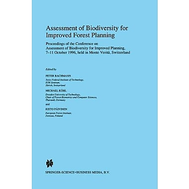 Assessment Of Biodiversity For Improved Forest Planning Forestry Sciences, New Book (9789048149629)