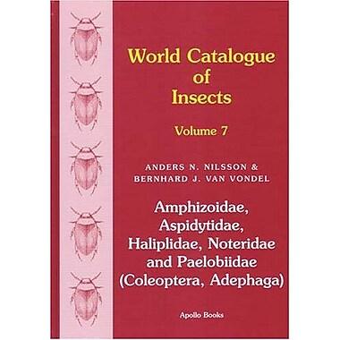 World Catalogue Of Insects Vol 7 Amphizoidae Aspidytidae Haliplidae Noteridae And Paelobiidae Coleopte, New Book (9788788757491)