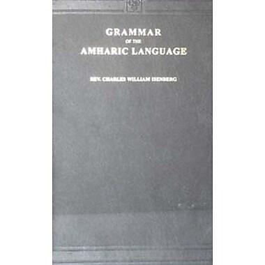 Grammar Of The Amharic Language Amharic Edition, New Book (9788120617056)
