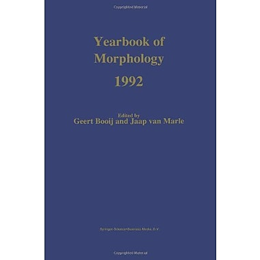 Yearbook Of Morphology 1992, New Book (9789048141975)