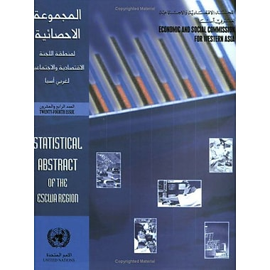 Statistical Abstract Of The Escwa Region 24Th Issue Multilingual Edition, New Book (9789211282788)