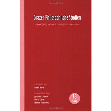 Grazer Philosophische Studien Vol 73 2006, New Book (9789042022324)