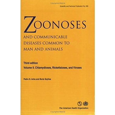 Zoonoses And Communicable Diseases Common To Man And Animals Vol Ii Chlamydioses Rickettsioses And Vir, New Book (9789275119921)