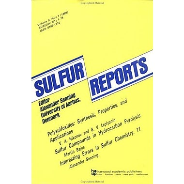 Sulfur Reports Series, New Book (9783718649440)