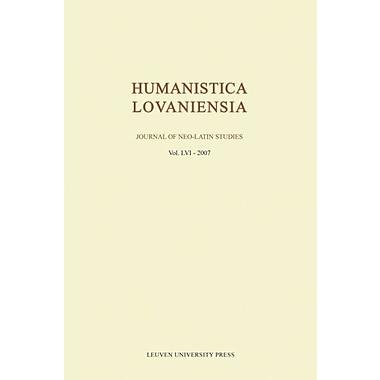 Humanistica Lovaniensia Journal Of Neo-Latin Studies Latin Edition, New Book (9789058676412)