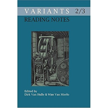 Reading Notes Variants 23 Variants The Journal Of The European Society For Textual Scholarship, New Book (9789042018211)