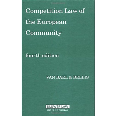 Competition Law Of The European Community, New Book (9789041123091)