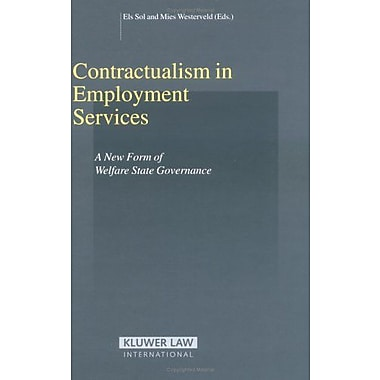 Contractualism In Employment Services A New Form Of Welfare State Governance Studies In Employment And (9789041124050)
