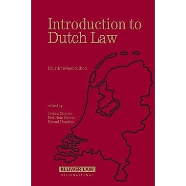 Introduction To Dutch Law, New Book (9789041122698)