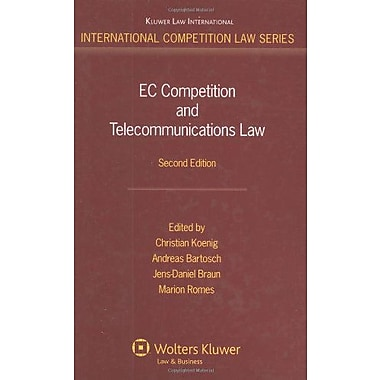 Ec Competition And Telecommunications Law International Competition Law Series, New Book (9789041125644)
