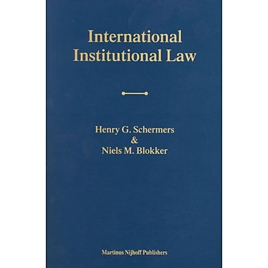 International Institutional Law Unity Within Diversity, New Book (9789004138278)