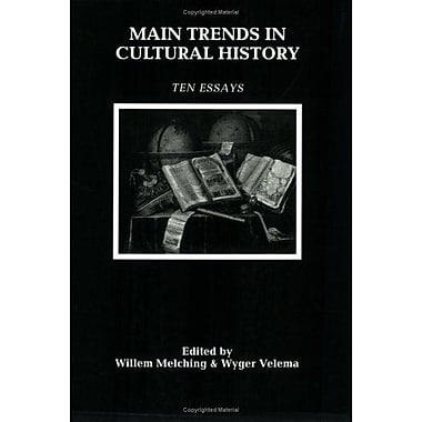 Main Trends In Cultural History Ten Essays, New Book (9789051837452)